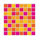 Telhas de vidro alaranjadas e cor-de-rosa Ilustração do Vetor