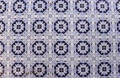 Telhas decorativas azuis em Porto fotografia de stock
