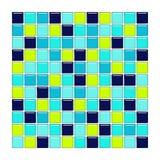 Telhas do azul, do aqua e do vidro verde Ilustração do Vetor