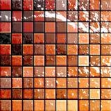 Telhas do banheiro alaranjadas e re Imagem de Stock Royalty Free