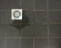 Telhas do dreno do chuveiro Imagem de Stock