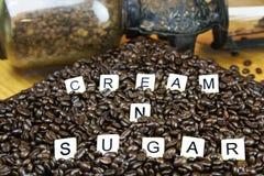 Telhas do jogo do creme e do açúcar Fotos de Stock Royalty Free