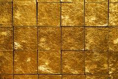 Telhas do ouro fotografia de stock