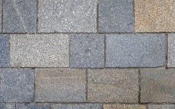 Telhas do pavimento, fundo da textura Gray Square Pavement Textura sem emenda de Tileable Textura de pavimentação velha do fundo  fotografia de stock royalty free