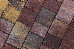 telhas do pavimento na cor marrom amarela e cinzenta foto de stock