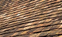 Telhas do telhado fotografia de stock royalty free