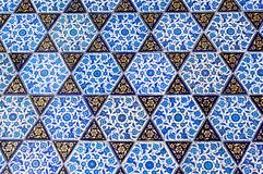 Telhas do tempo do otomano com testes padrões Fotografia de Stock
