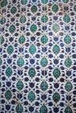 Telhas do tempo do otomano com testes padrões Fotografia de Stock Royalty Free