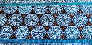 Telhas do tempo do otomano com testes padrões Foto de Stock Royalty Free