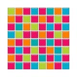 Telhas do vidro azul, cor-de-rosa, alaranjado e verde Ilustração Stock