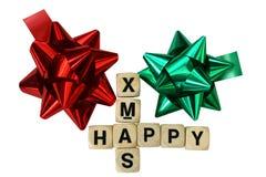 Telhas e rosettes do Natal Fotografia de Stock