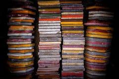 Telhas empilhadas coloridos Fotografia de Stock