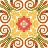Telhas florais velhas Imagens de Stock Royalty Free