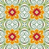 Telhas florais velhas Imagem de Stock