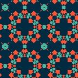 Telhas marroquinas - teste padrão sem emenda ilustração stock