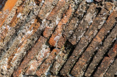 Telhas medievais da chaminé Fotografia de Stock