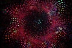 Telhas pequenas do fractal nas cores brilhantes que curvam-se para fora nos grupos e nas camadas foto de stock