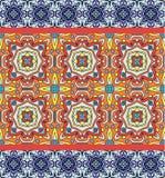 Telhas portuguesas do azulejo Sem emenda lindo azul e branco Imagens de Stock