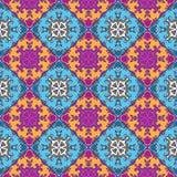 Telhas portuguesas do azulejo Sem emenda lindo azul e branco Fotos de Stock Royalty Free