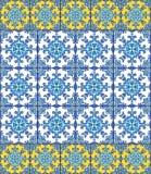 Telhas portuguesas do azulejo Sem emenda lindo azul e branco Fotos de Stock
