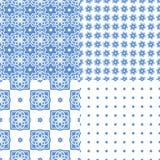 Telhas portuguesas do azulejo Testes padrões sem emenda Fotos de Stock Royalty Free