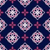 Telhas portuguesas do azulejo Testes padrões sem emenda lindos azuis e brancos Foto de Stock