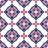 Telhas portuguesas do azulejo Testes padrões sem emenda lindos azuis e brancos Fotos de Stock Royalty Free