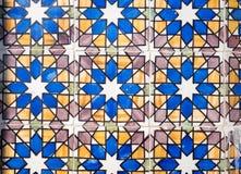 Telhas portuguesas típicas do azulejo Ornamento geométrico foto de stock