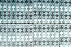 Telhas portuguesas Textured do azul e as brancas Foto de Stock
