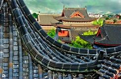 Telhas pretas em Pavillion chinês Fotos de Stock