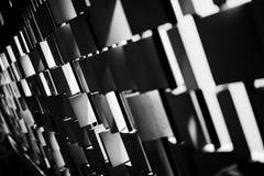 Telhas preto e branco Fotografia de Stock