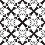 Teste padrão preto e branco Imagens de Stock