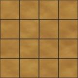 Telhas quadradas amarelas sem emenda ilustração do vetor