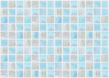 Telhas quadradas azuis com vário mármore dos efeitos Fotografia de Stock Royalty Free