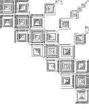 Telhas quadradas cinzentas abstratas Imagens de Stock