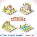 01 telhas romanas isométricas Fotos de Stock Royalty Free