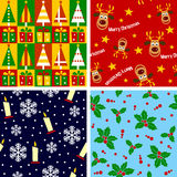 Telhas sem emenda do Natal [1] Fotografia de Stock