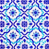 Telhas, testes padrões e fundos vitrificados feitos a mão portugueses, arte colorida da rua de Portugal, curso Europa Imagens de Stock
