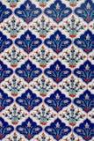 Telhas turcas feitos a mão antigas do otomano Foto de Stock