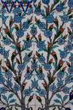 Telhas turcas feitos a mão antigas do otomano Imagens de Stock