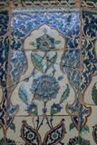 Telhas turcas feitos a mão antigas do otomano imagem de stock royalty free