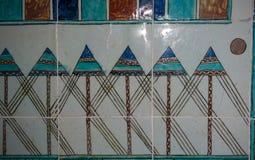 Telhas turcas feitos a mão antigas do otomano fotografia de stock royalty free