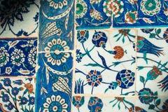Telhas turcas feitos a mão do tempo antigo do otomano Fotografia de Stock