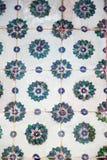Telhas turcas feitos a mão do tempo antigo do otomano Fotos de Stock Royalty Free