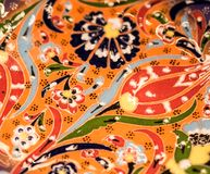 Telhas turcas feitos a mão do tempo antigo do otomano Imagens de Stock Royalty Free