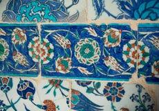 Telhas turcas feitos a mão do tempo antigo do otomano Imagem de Stock Royalty Free