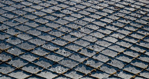 Telhas velhas do telhado Imagens de Stock Royalty Free