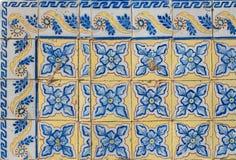 Telhas vitrificadas portuguesas 076 Foto de Stock Royalty Free
