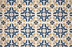 Telhas vitrificadas portuguesas tradicionais Fotos de Stock Royalty Free
