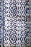 Telhe a decoração da parede da mesquita do Pasha de Rustem, Istambul imagens de stock royalty free